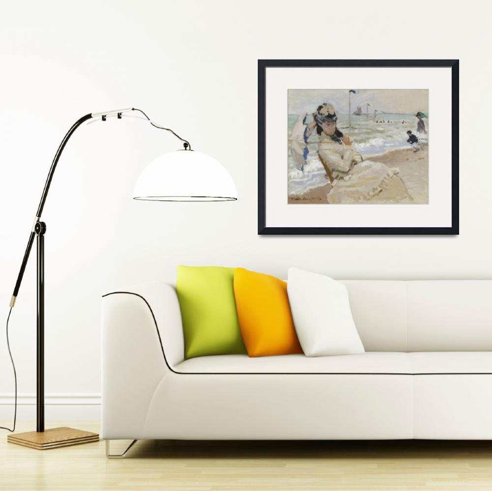 """""""Camille on the Beach in Trouville by Claude&quot  by FineArtClassics"""