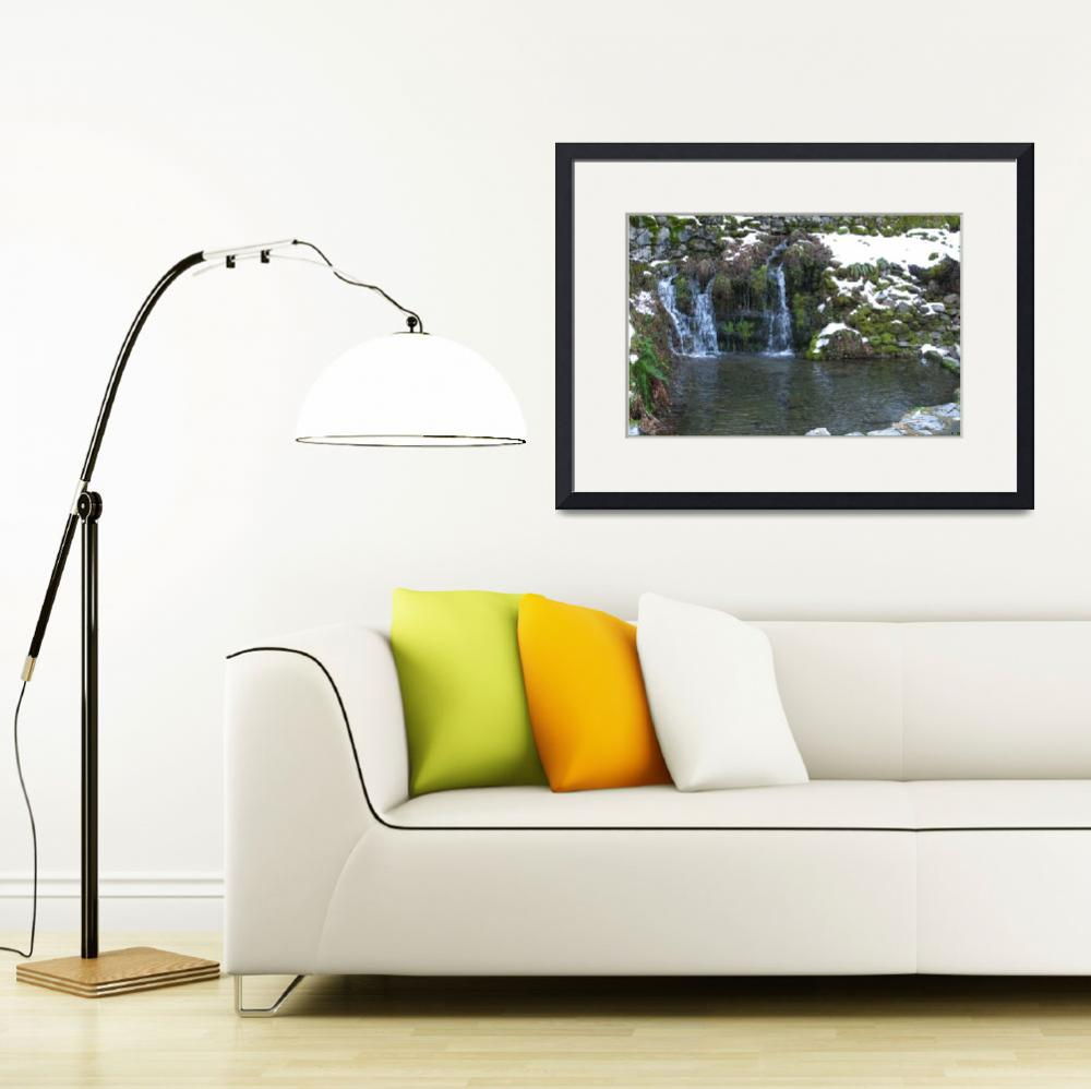 """""""Oregon Caves Waterfall & Pond (2)""""  (2007) by CRS"""