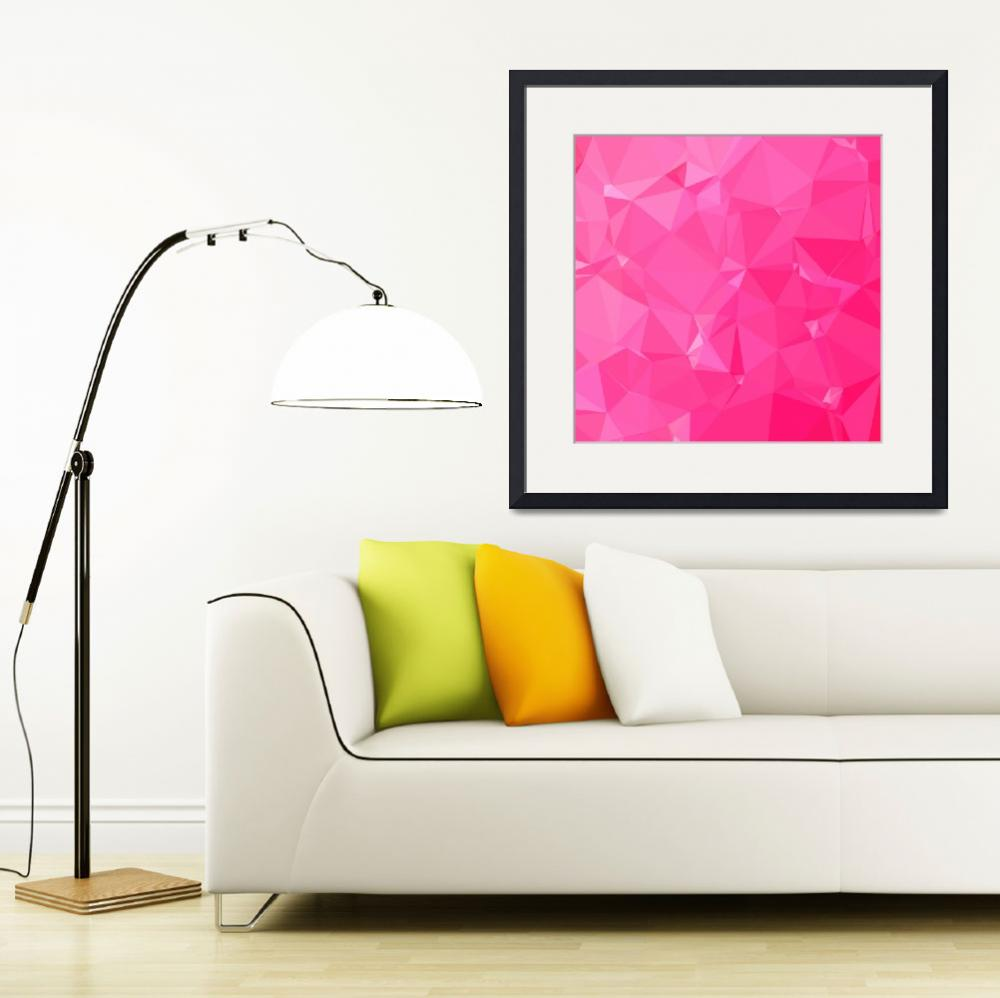 """""""Persian Rose Pink Abstract Low Polygon Background""""  (2015) by patrimonio"""