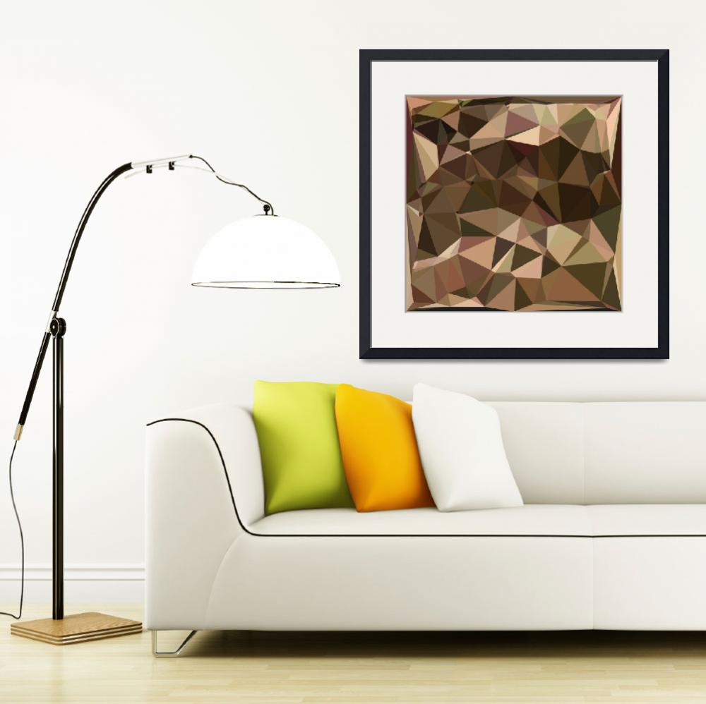 """""""Sienna Abstract Low Polygon Background&quot  (2016) by patrimonio"""