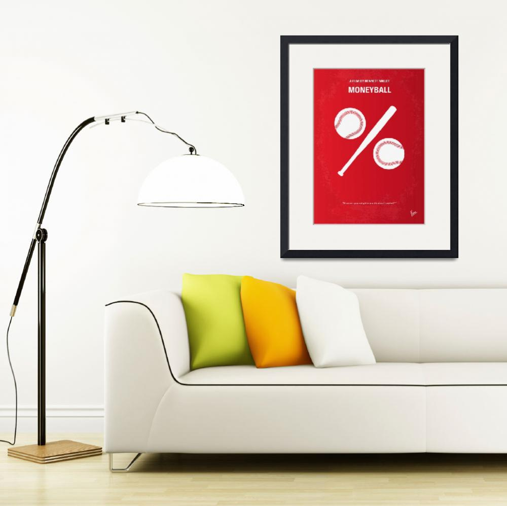 """""""No191 My Moneyball minimal movie poster&quot  by Chungkong"""