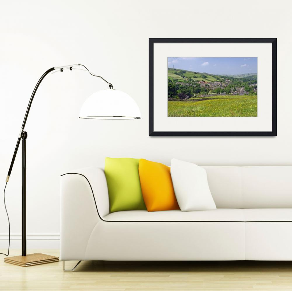"""""""Hayfield, Derbyshire from Snake Path (36935-RDA)&quot  (2013) by rodjohnson"""