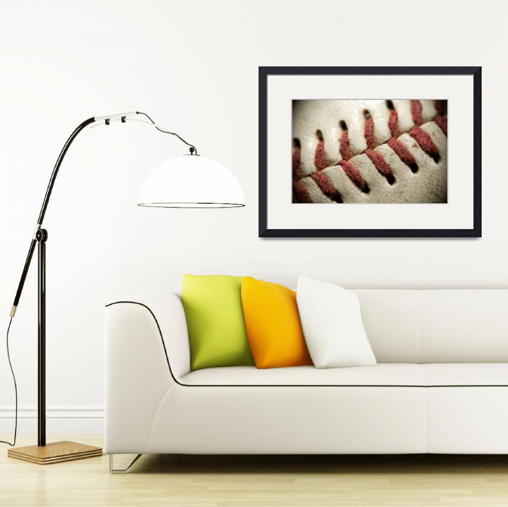 """Baseball Stitches""  (2011) by SquidPhotos"
