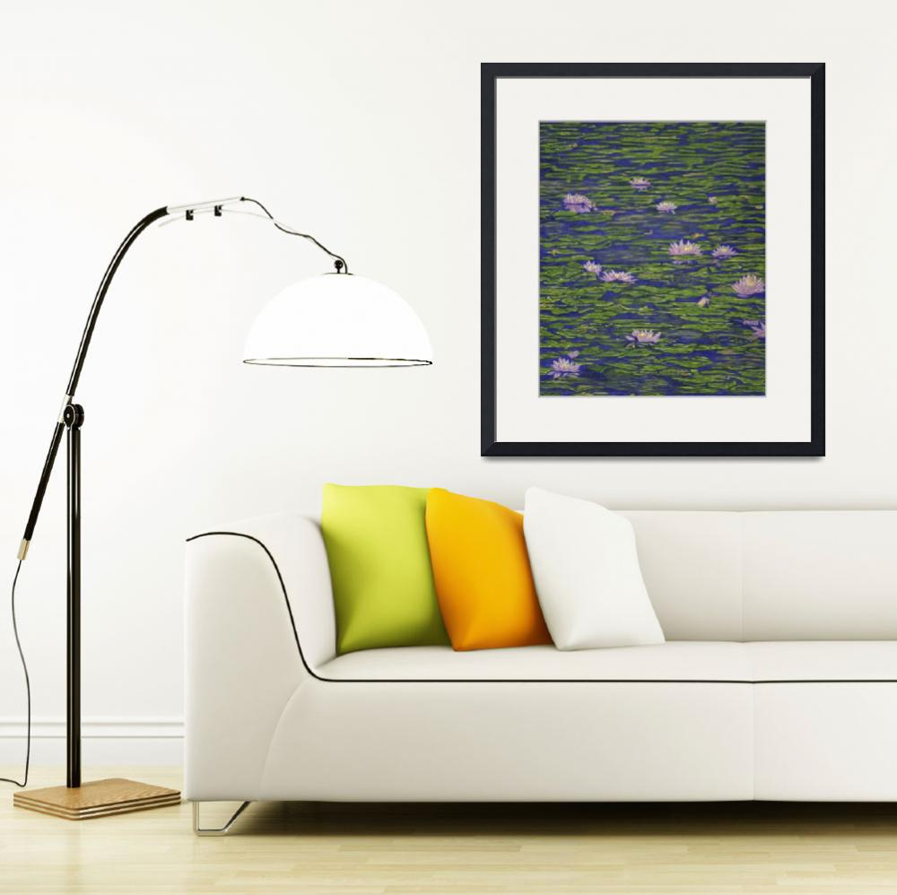 """""""Fine Art Prints Water Lilies Lily Art Pond Flowers&quot  (2008) by BasleeTroutman"""