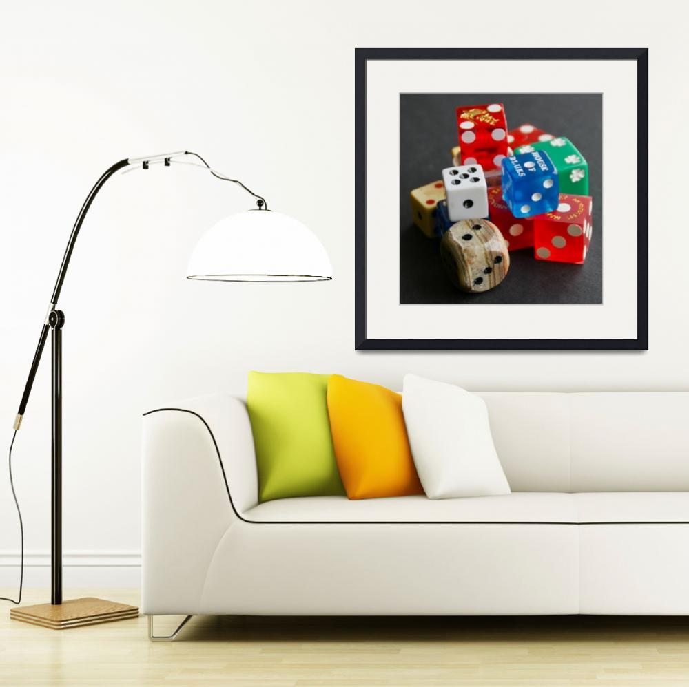 """""""A Collection of Dice&quot  (2010) by MoonLiteStudio"""