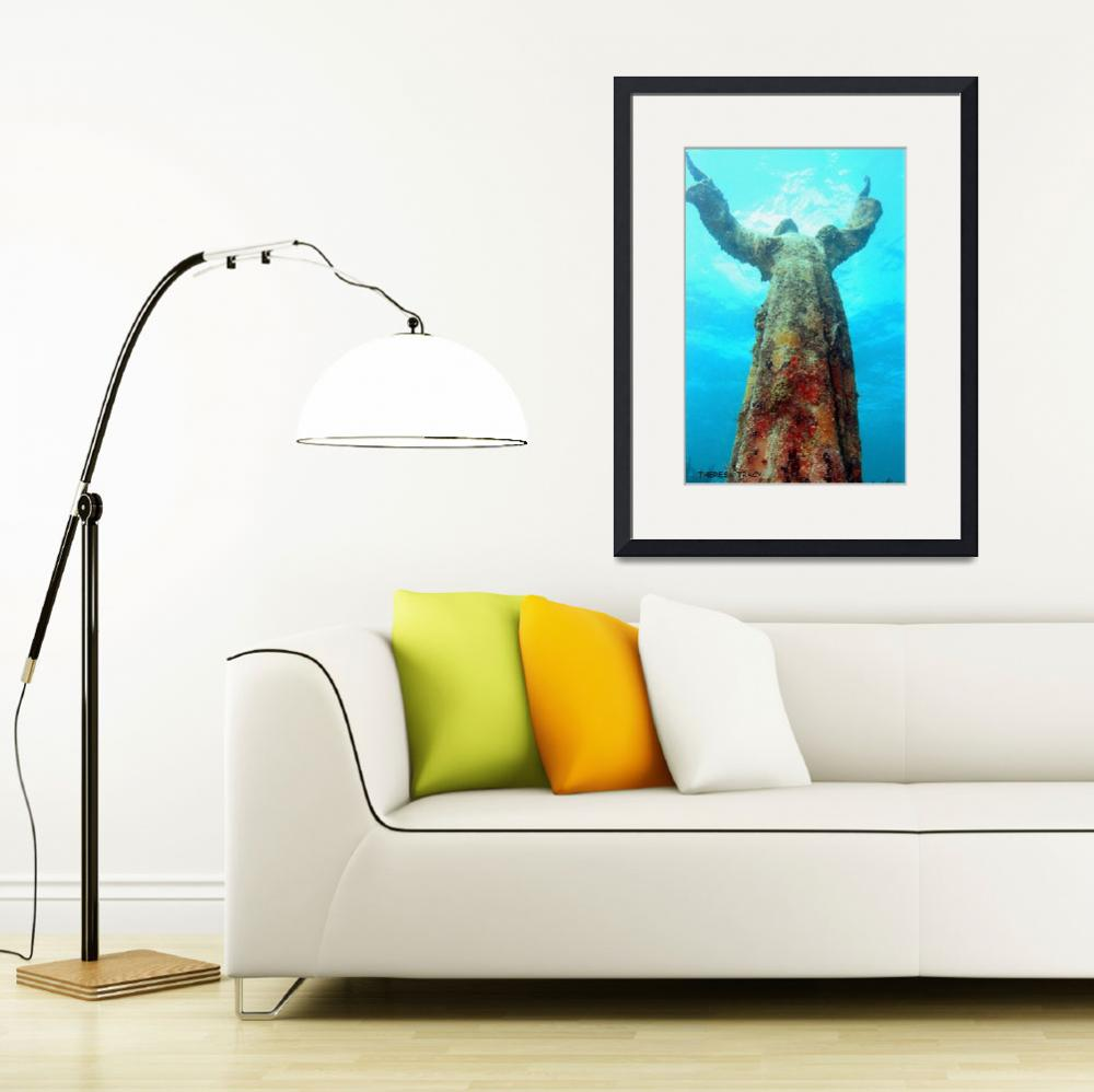 """Christ of The Abyss&quot  (2009) by TLTracyPhotography"