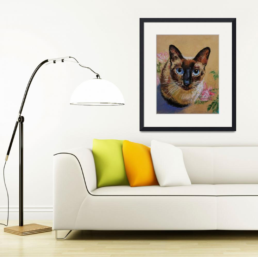 """""""Siamese Cat&quot  by creese"""