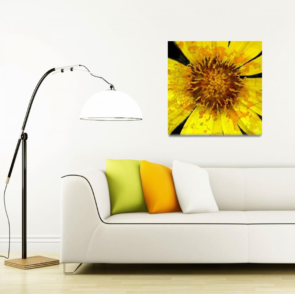 """Flower Power Yellow&quot  (2008) by ErinKanoa"