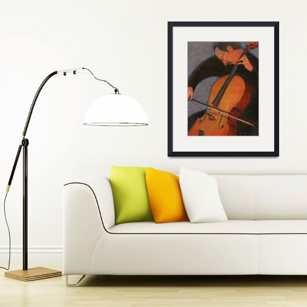 """""""Cello Player&quot  by CatScott"""