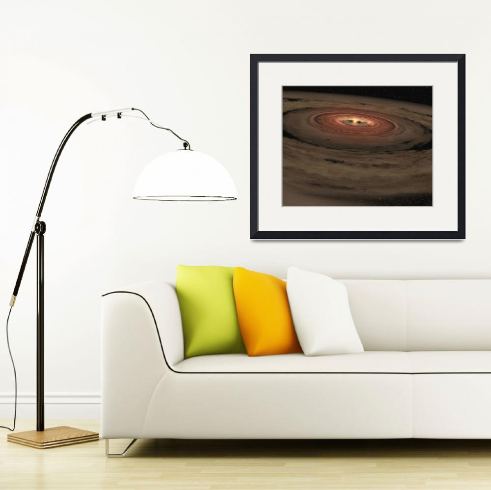 """A brown dwarf surrounded by a swirling disk of pla&quot  by stocktrekimages"