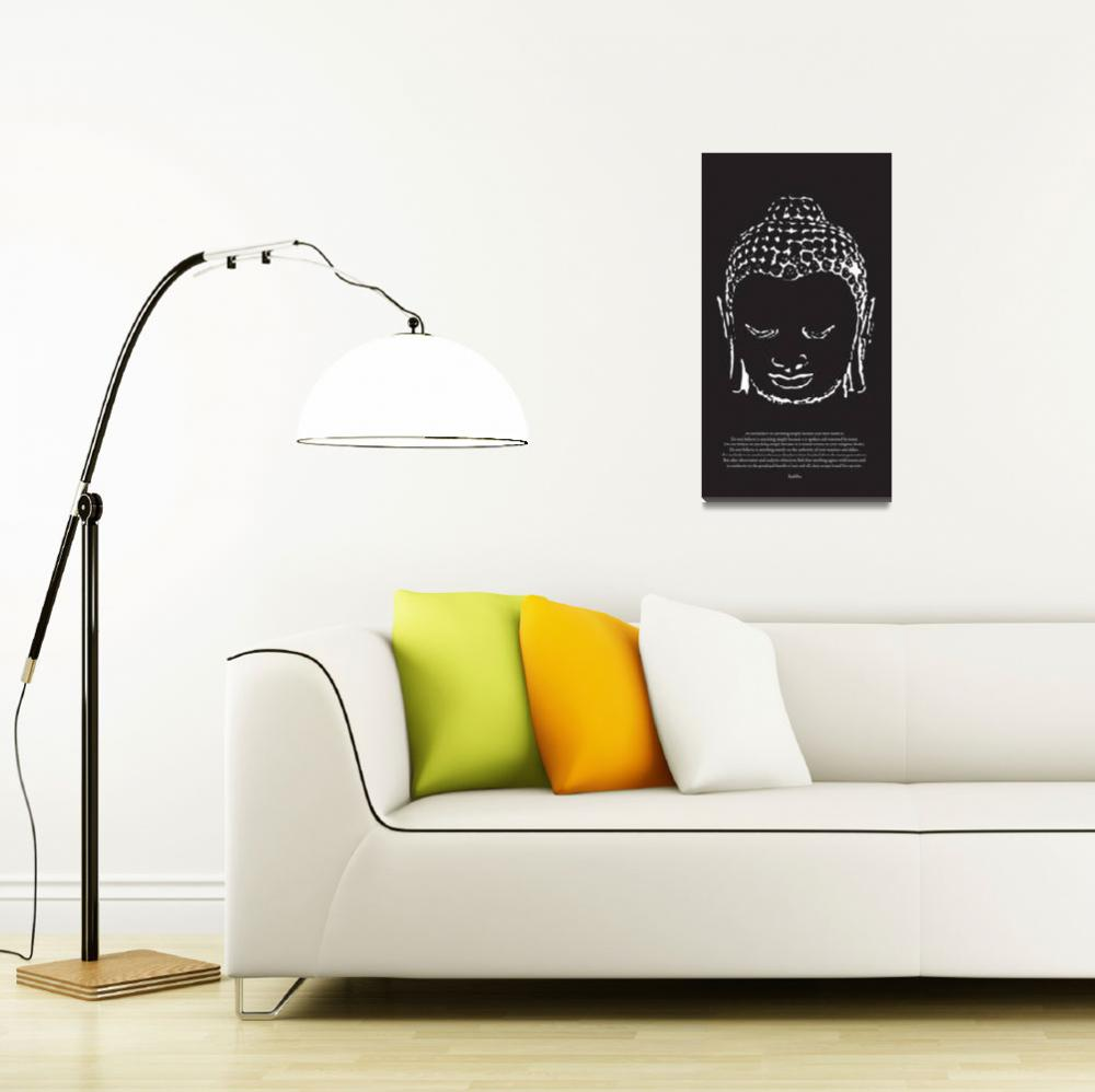 """Buddha in Black and White""  (2009) by diguiseppi"