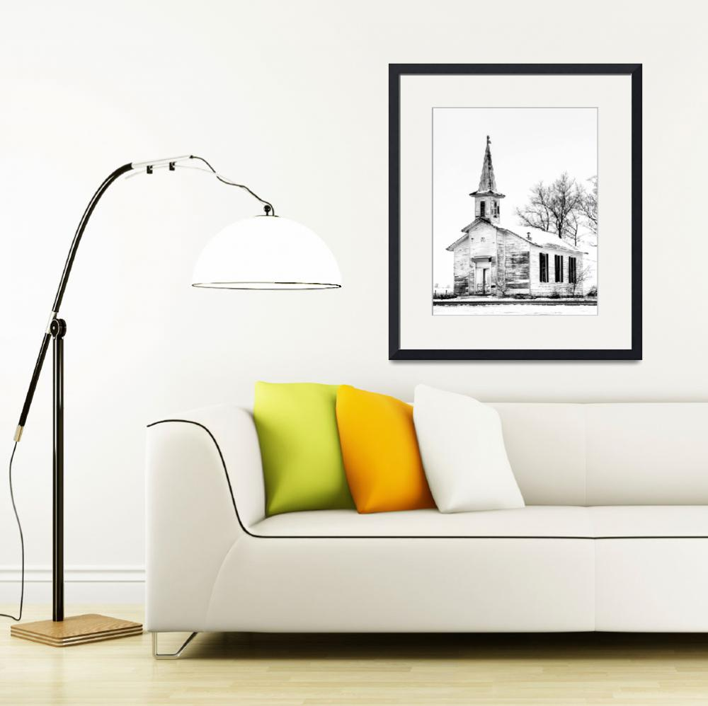 """""""Old Ionia Church&quot  (2011) by JamesHowePhotography"""