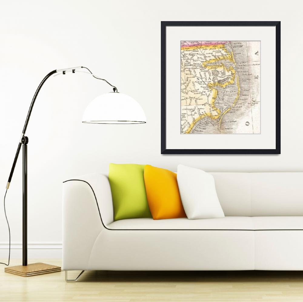 """""""Vintage Map of The Outer Banks (1818)&quot  by Alleycatshirts"""
