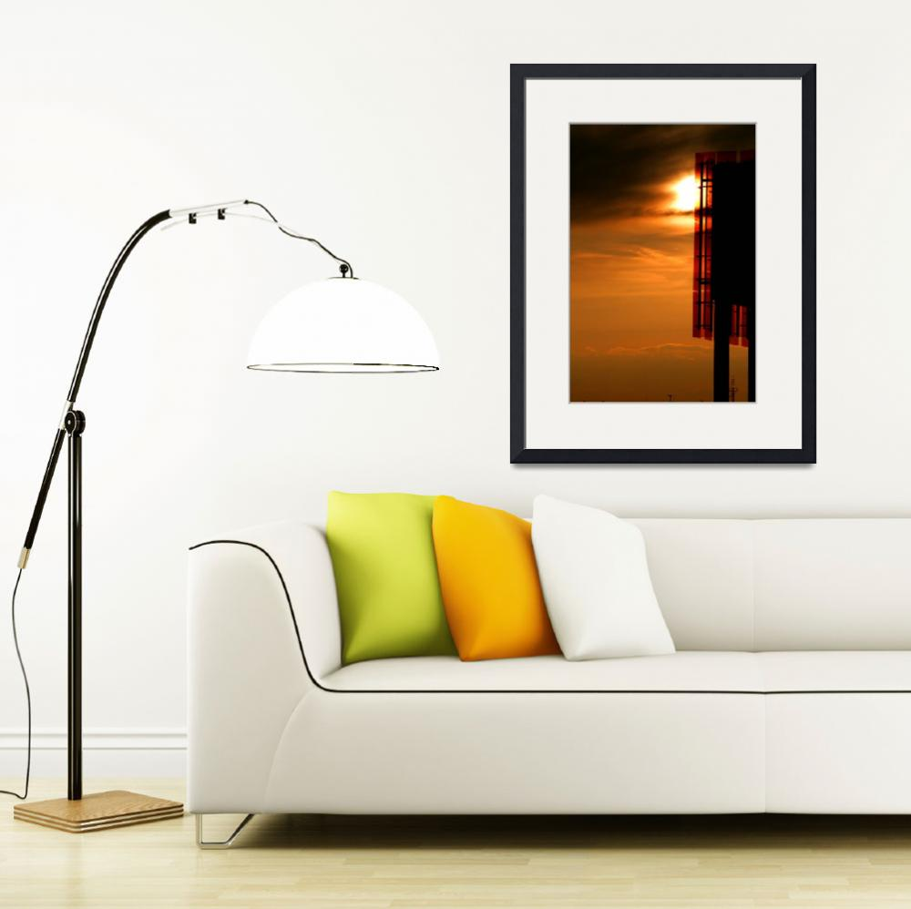 """""""Sunset Silhouette Architecture Photograph for Sale&quot  (2010) by tobiphoto"""