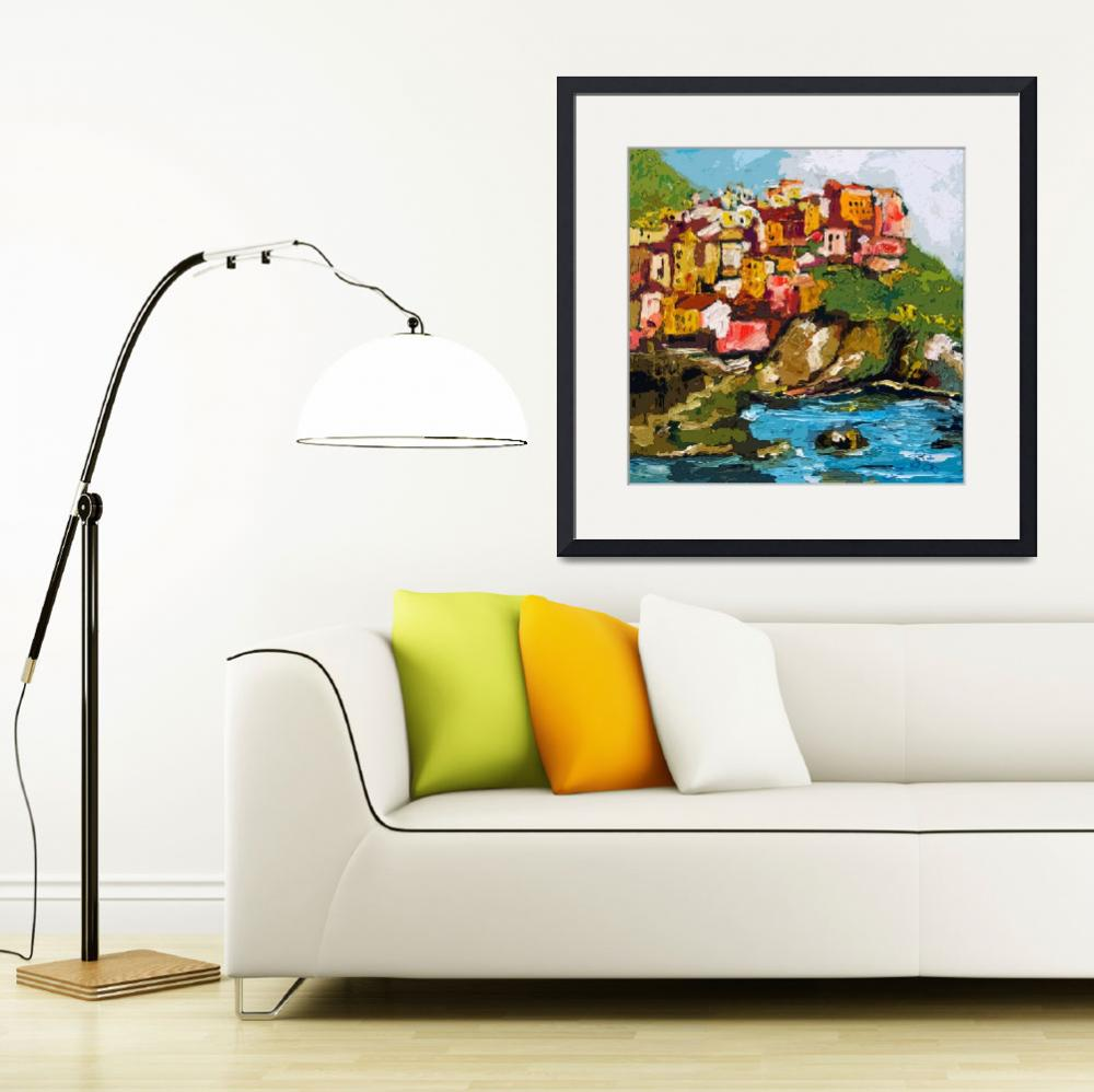 """""""Monarolla Cinque Terre Italy Art by Ginette""""  (2013) by GinetteCallaway"""
