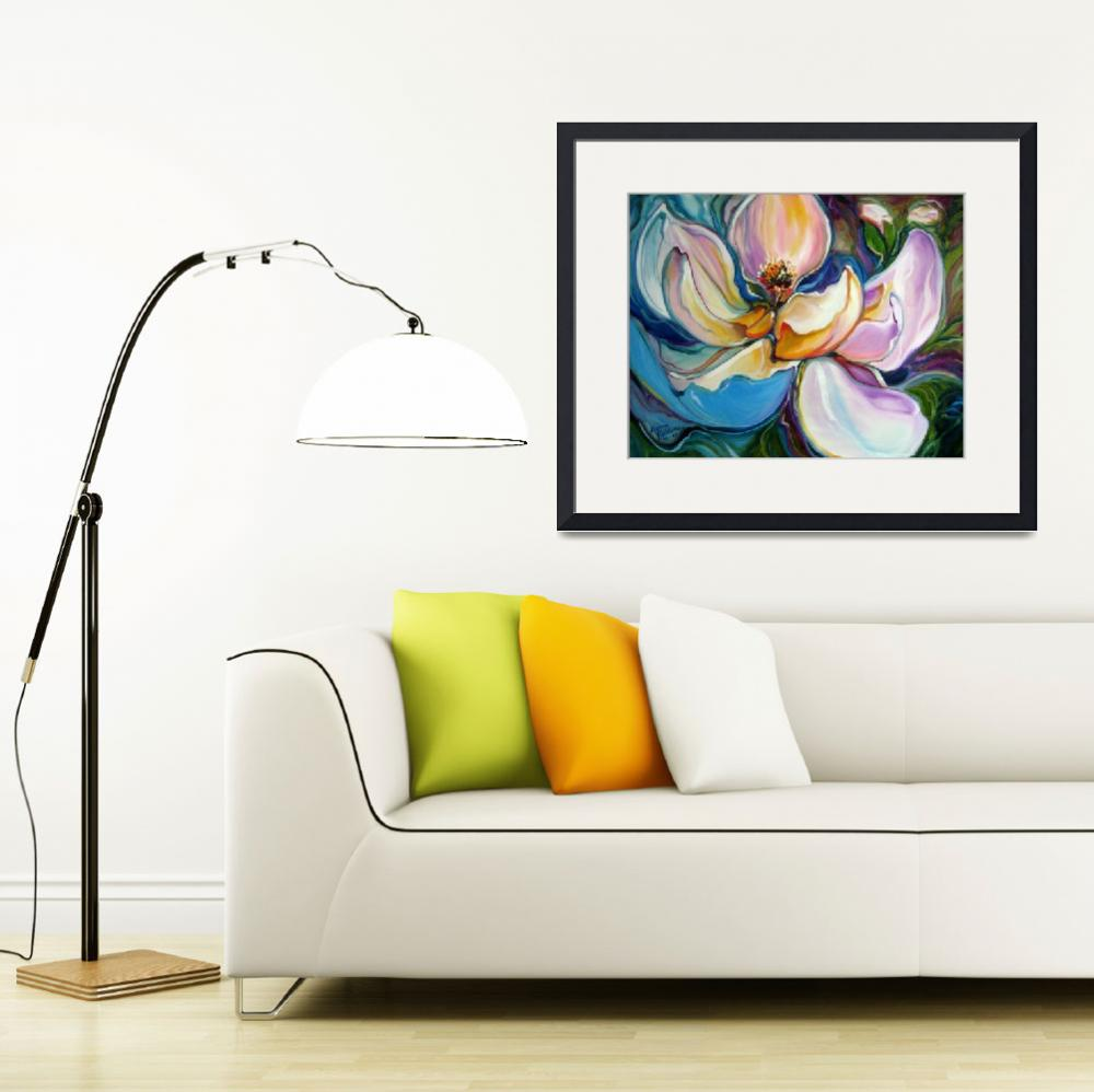 """""""SWEET MAGANOLIA MODERN FLORAL ABSTRACT"""" (2009) by MBaldwinFineArt2006"""
