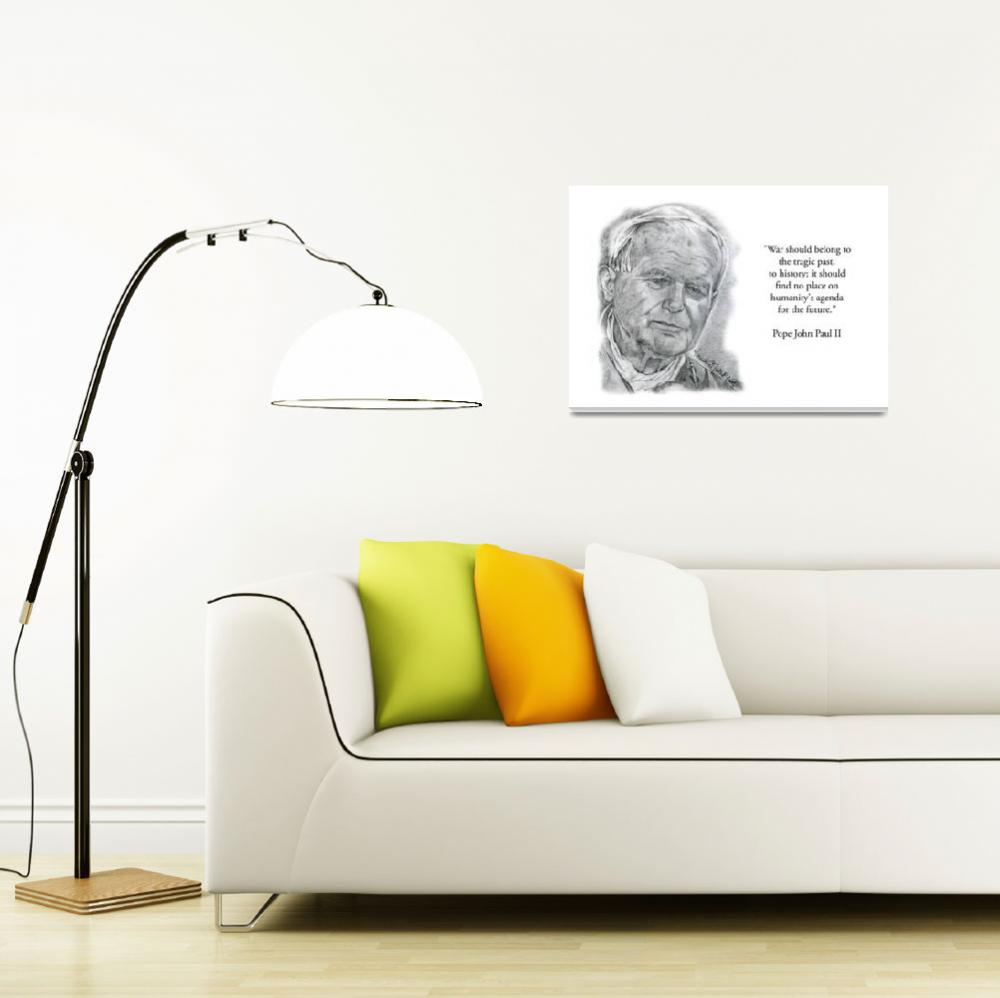 """Inspirational Portrait of Pope John Paul II""  by CreativeArtisticNuance"