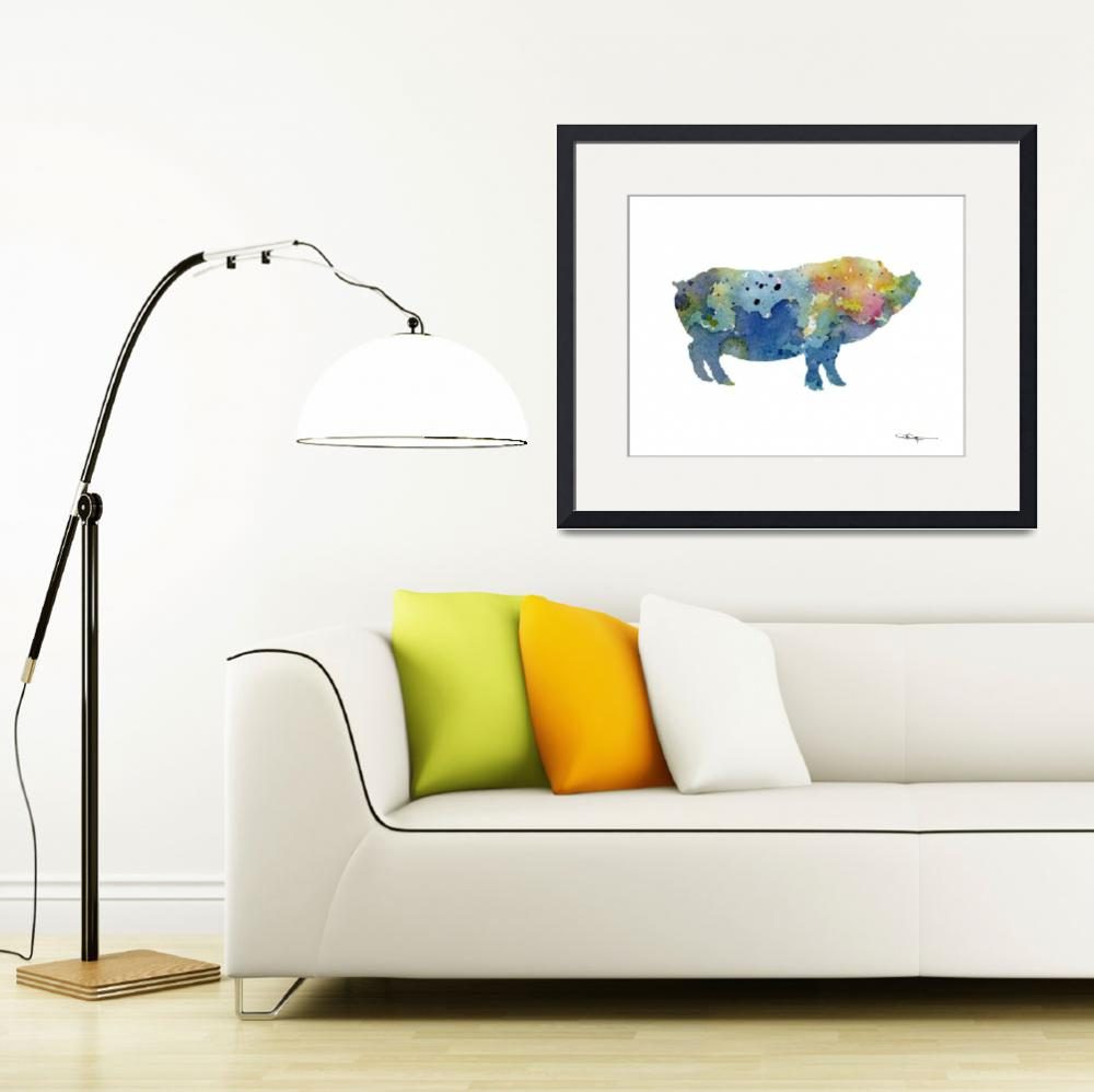 """Pot Bellied Pig""  (2015) by k9artgallery"