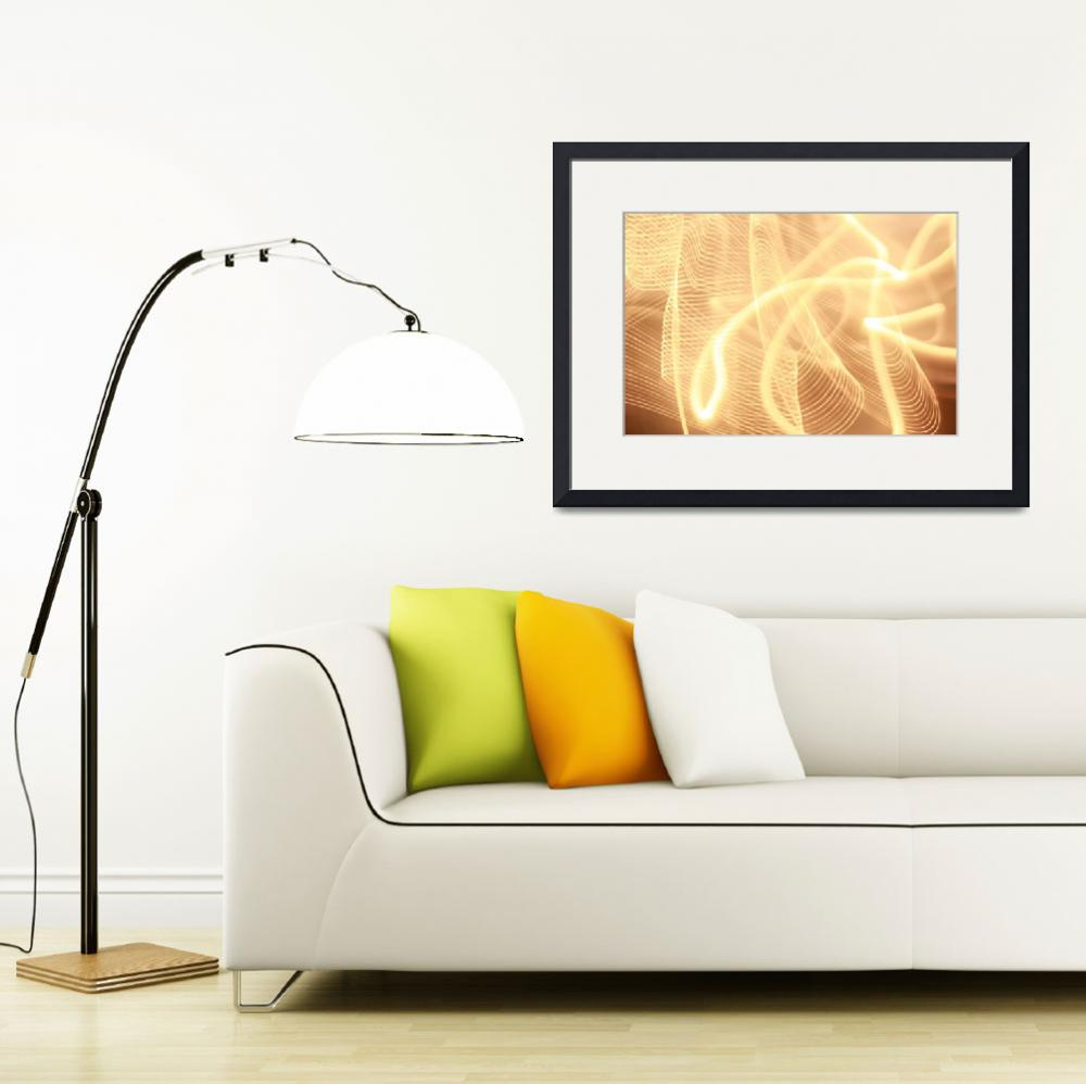"""""""Warm strings of glowing light""""  (2012) by MikeMBurkeDesigns"""
