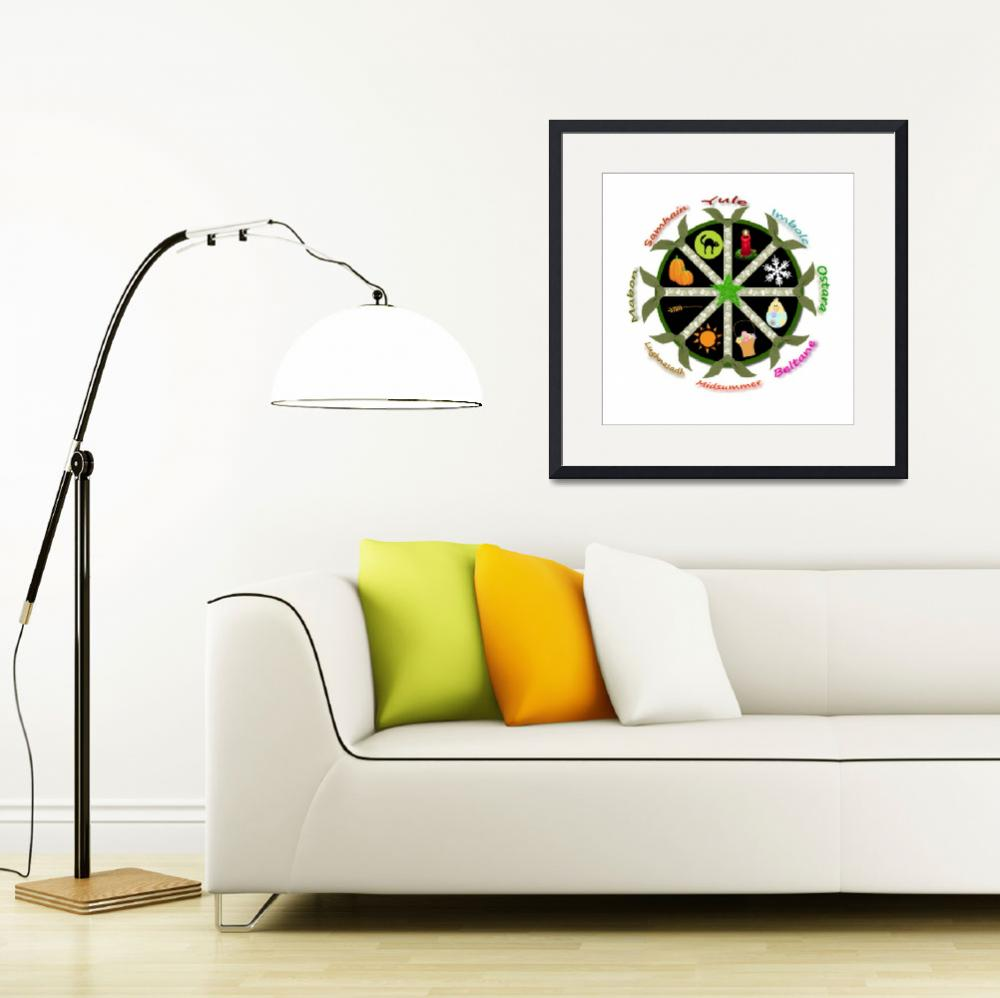 """""""Wheel of the Year&quot  (2011) by WytchwoodCottage"""