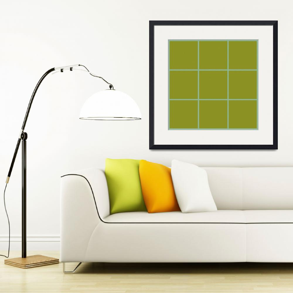 """""""Green Window 112 Canvas Contemporary Modern&quot  (2010) by Ricardos"""