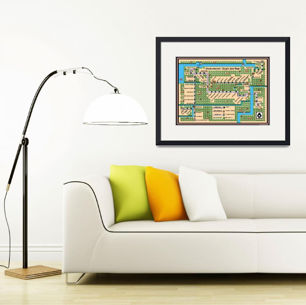 """""""Vancouver Skytrain Map (2015) in SMB3 Style&quot  (2014) by originaldave77"""