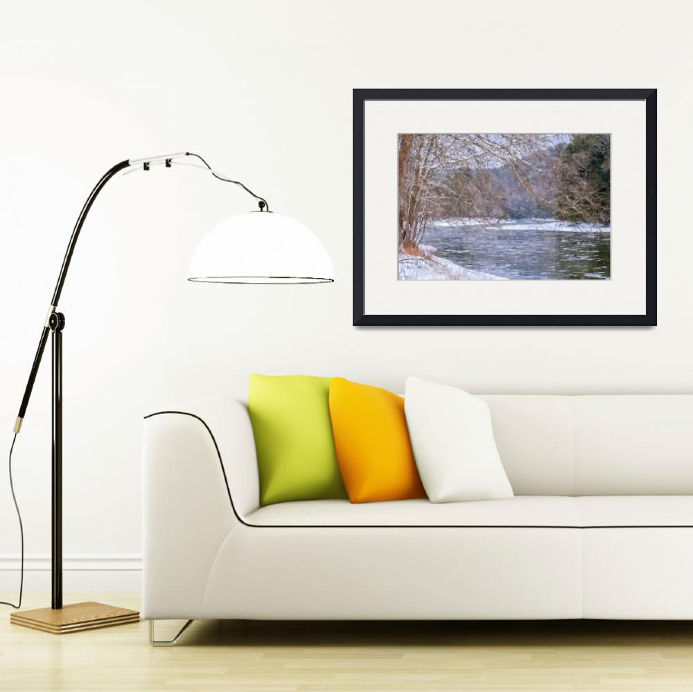 """""""Clarion River in January No1 (WC)&quot  (2019) by StephenJSepan"""