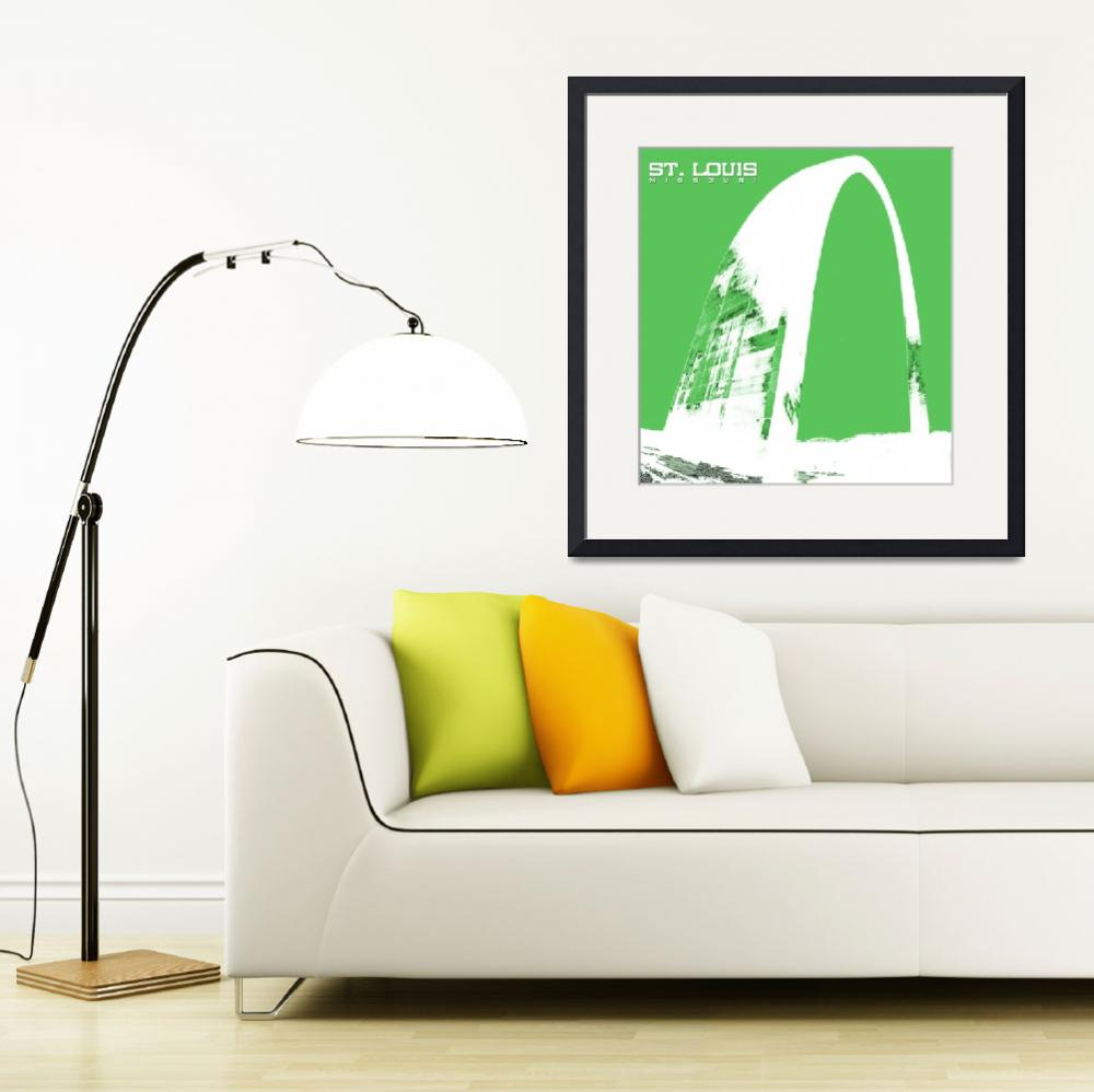 """""""St Louis Arch in Green&quot  by kFergPhotos"""