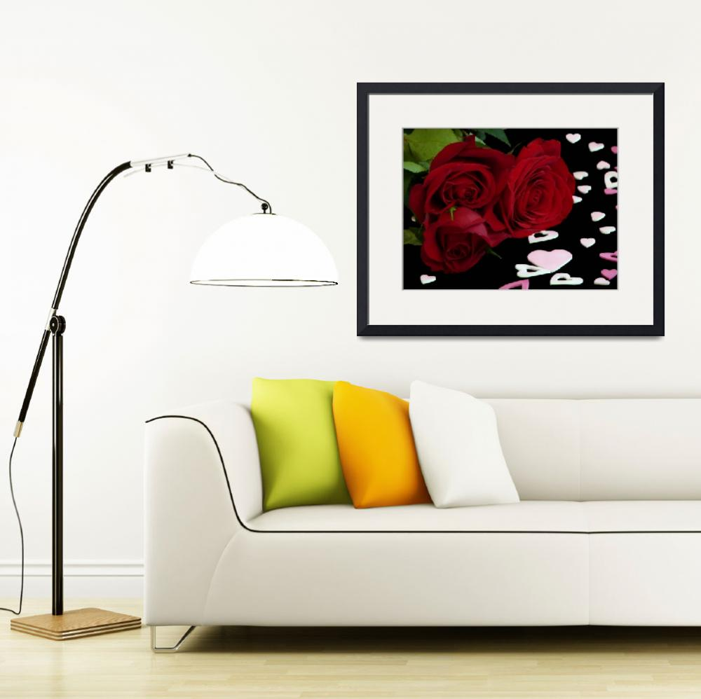 """""""Red Roses with Valentine"""