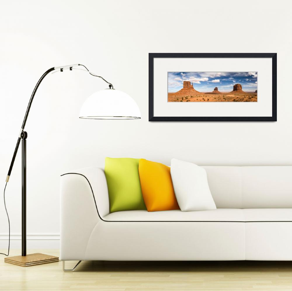 """""""Monument Valley Daytime Panoramic 3x1&quot  by cyorkphoto"""