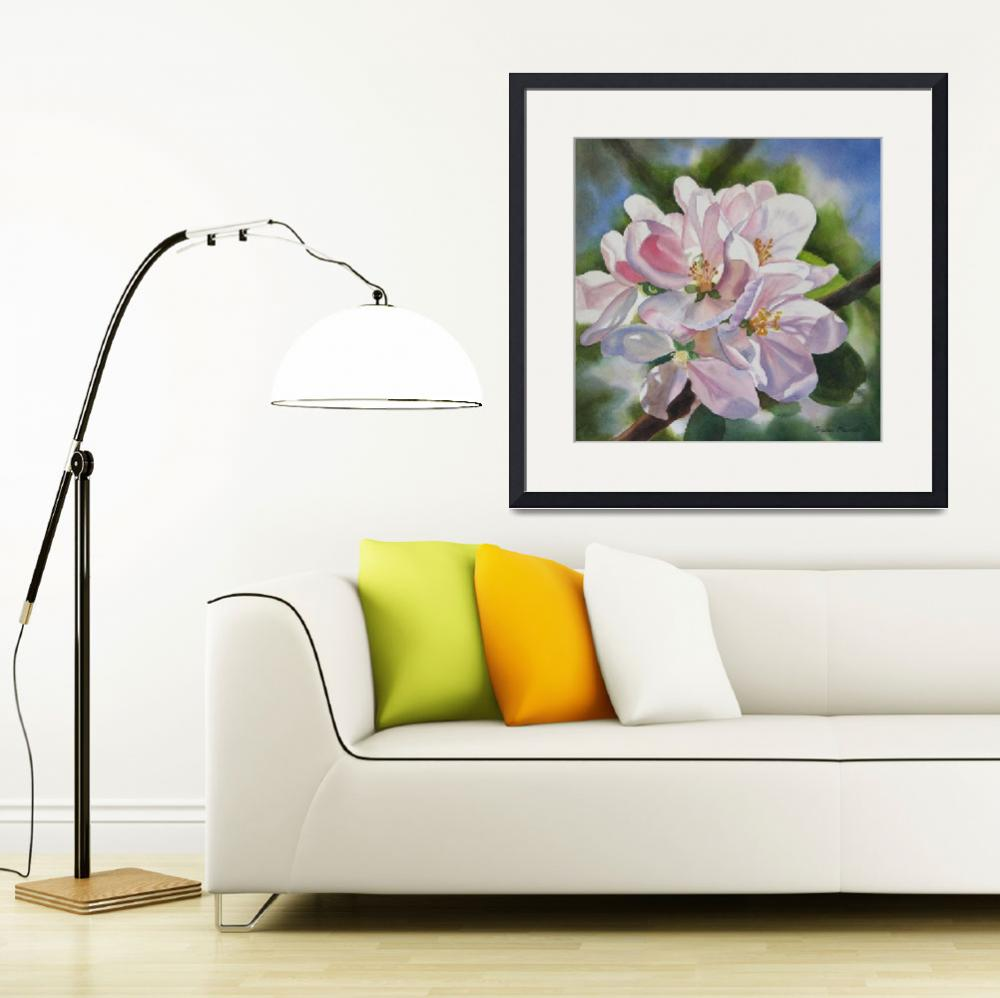 """Apple Blossoms&quot  (2009) by Pacific-NW-Watercolors"