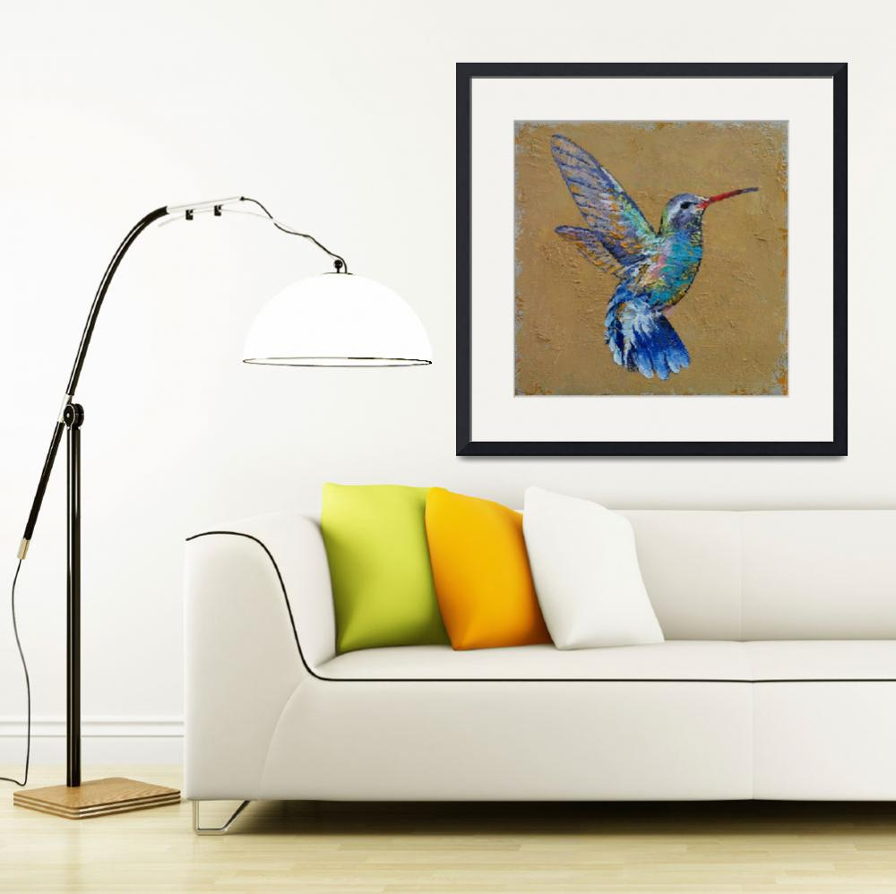 """""""Turquoise Hummingbird""""  by creese"""