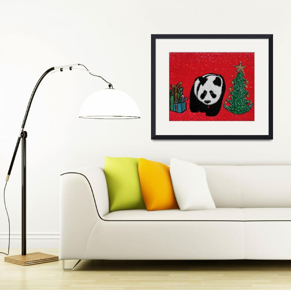 """A Panda For Christmas""  (2013) by ArtPrints"
