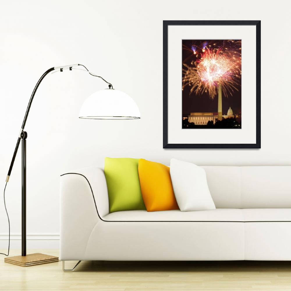 """Fireworks over Washington DC""  (2009) by ianseanlivingston"