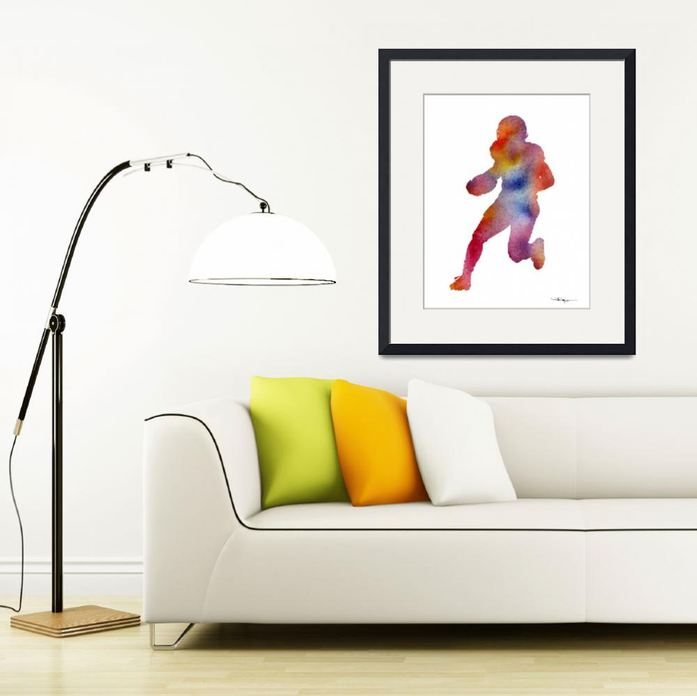 """Football Player&quot  (2016) by k9artgallery"