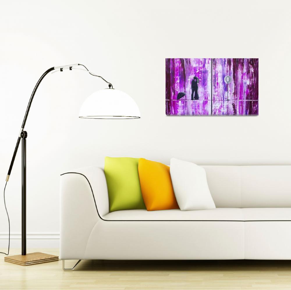 """Purple Rain Romance""  (2013) by AmberElizabethArt"