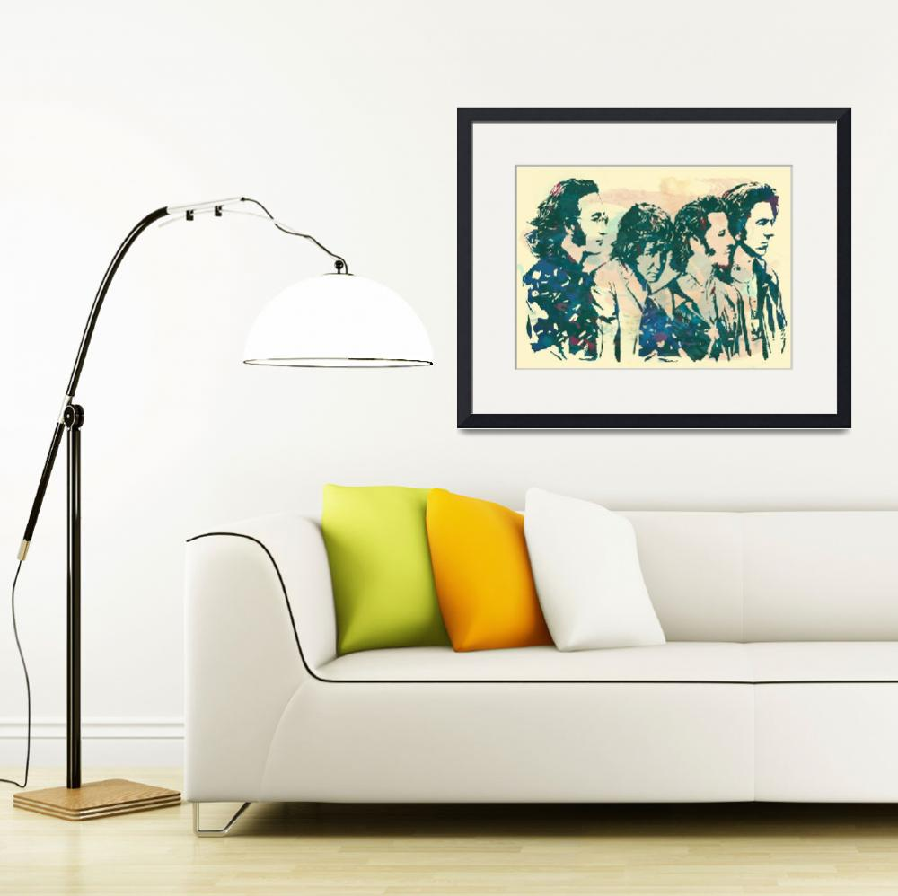 """""""The Beatles - Stylised Etching Pop Art Poster&quot  (2014) by visualharbour"""