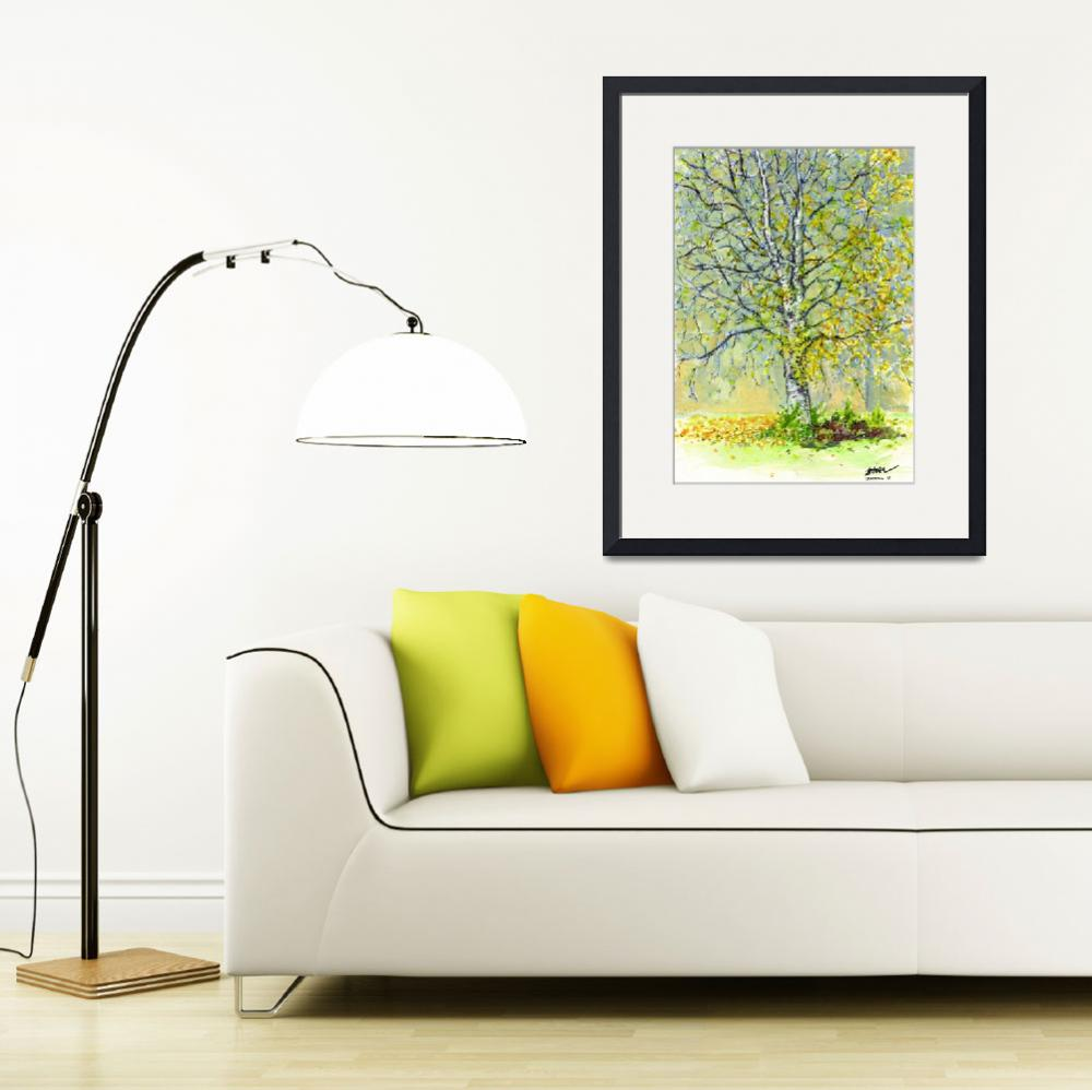 """The Yellow Tree""  (2009) by ZampolArt"