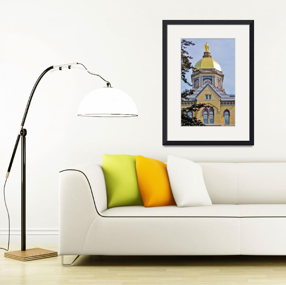 """""""Notre Dame Gold Dome""""  (2009) by lwoodburn"""