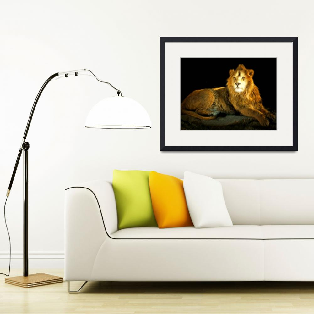 """""""The Lion 201502113-2brun""""  (2017) by wingsdomain"""