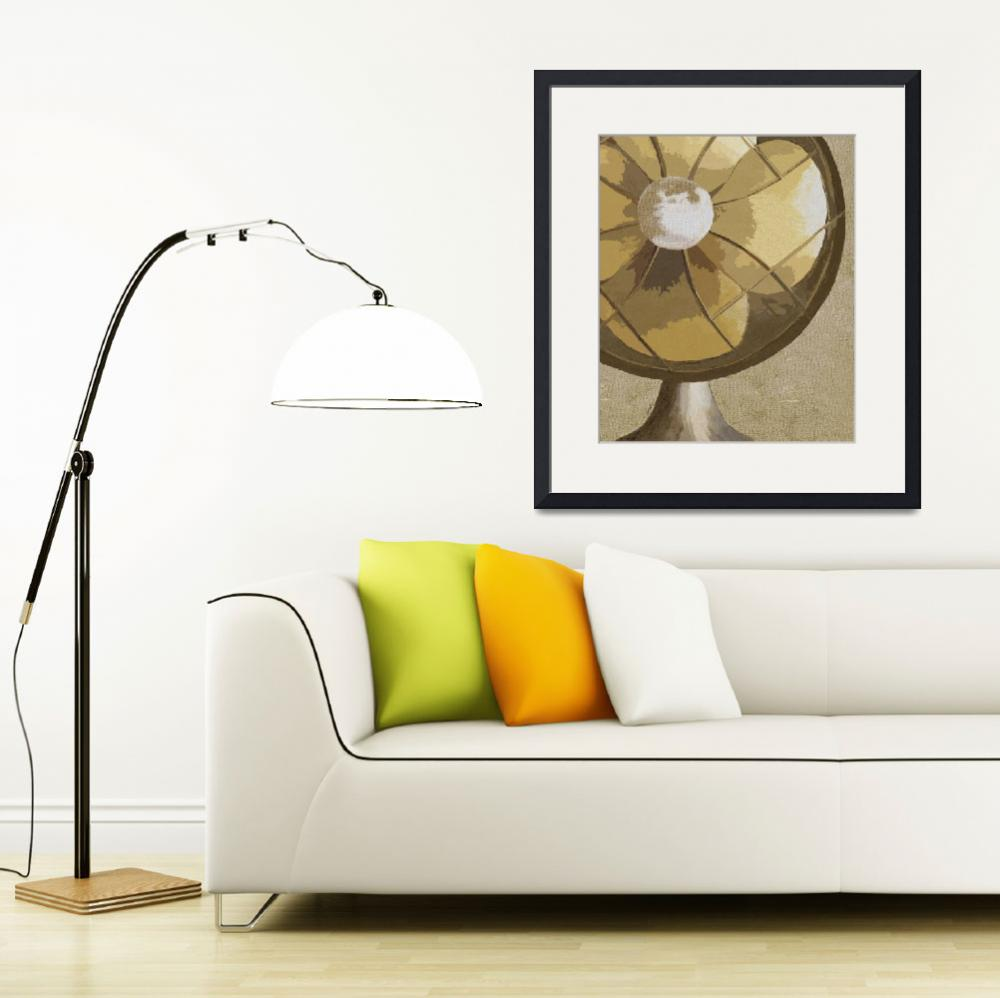 """""""STAY COOL - VINTAGE FAN&quot  (2008) by lisaweedn"""
