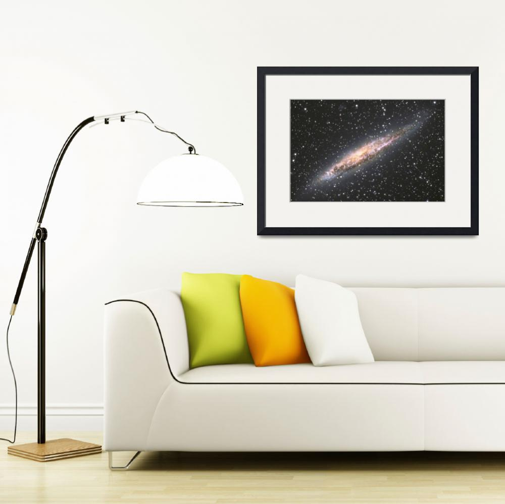 """Edge-on Galaxy NGC4945&quot  (2008) by wkloehr"