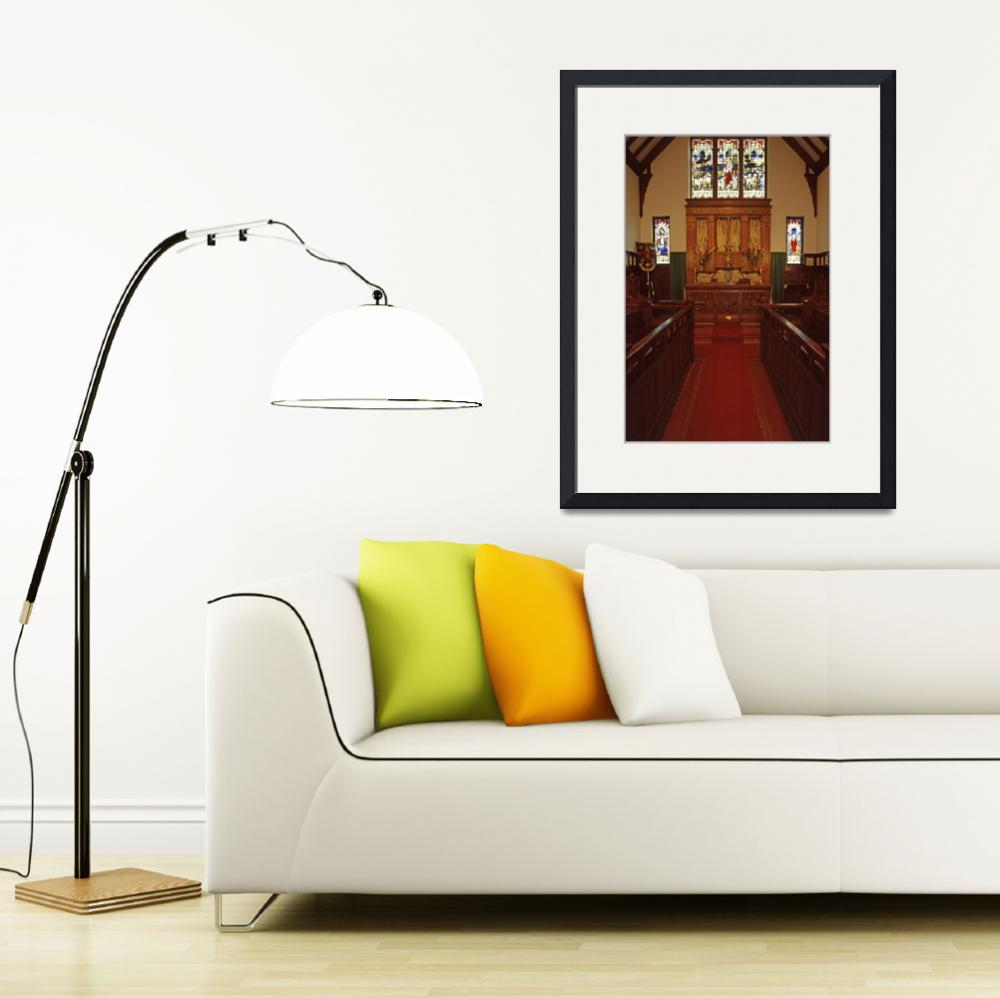 """""""Chancel, Holy Trinity Vancouver, the Old Church""""  (1992) by PriscillaTurner"""