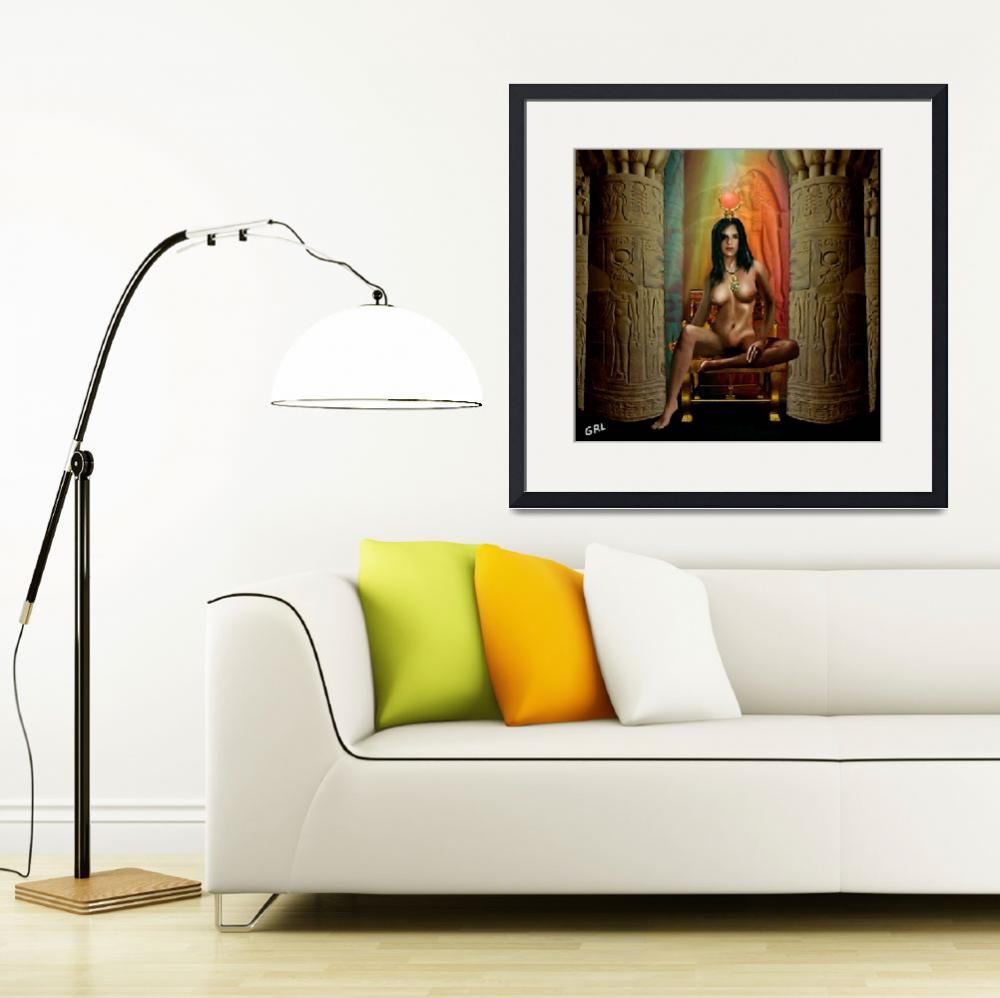 """""""Traditional Modern Female Nude Goddess Isis Of Mag&quot  by grl"""