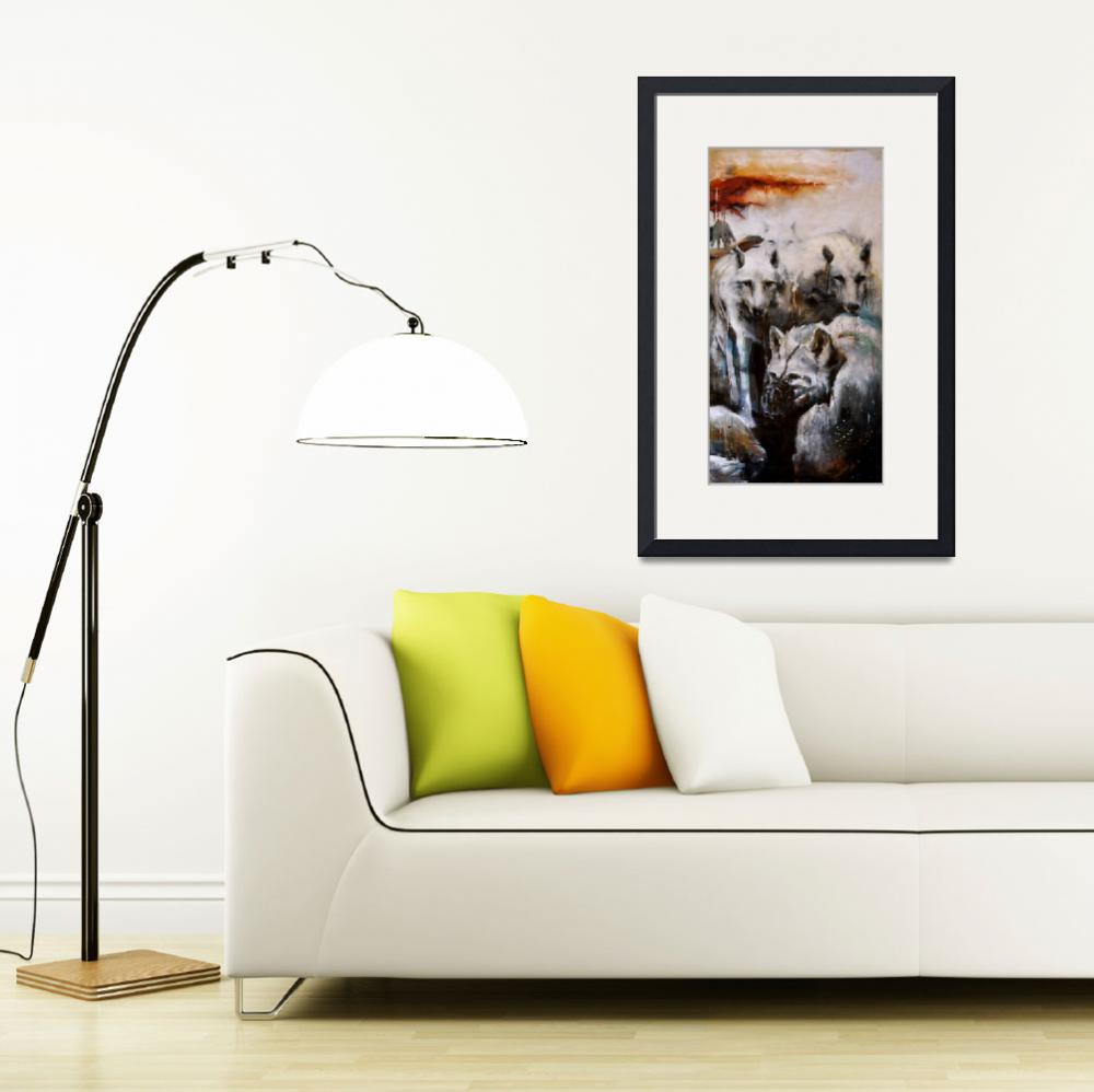 """""""The Lupine Court. (right side of triptych)&quot  by OpieSnowPrints"""