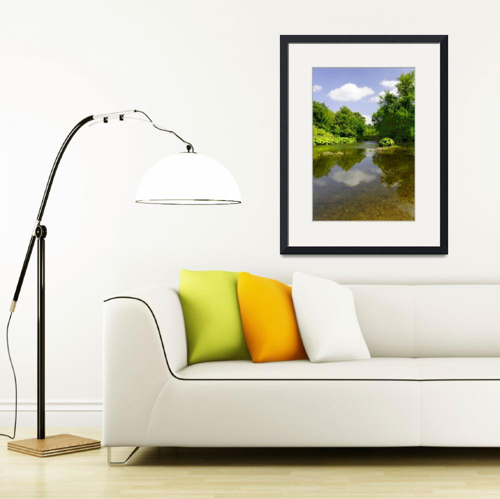 """""""The River Wye Downstream, at Upperdale&quot  (2011) by rodjohnson"""