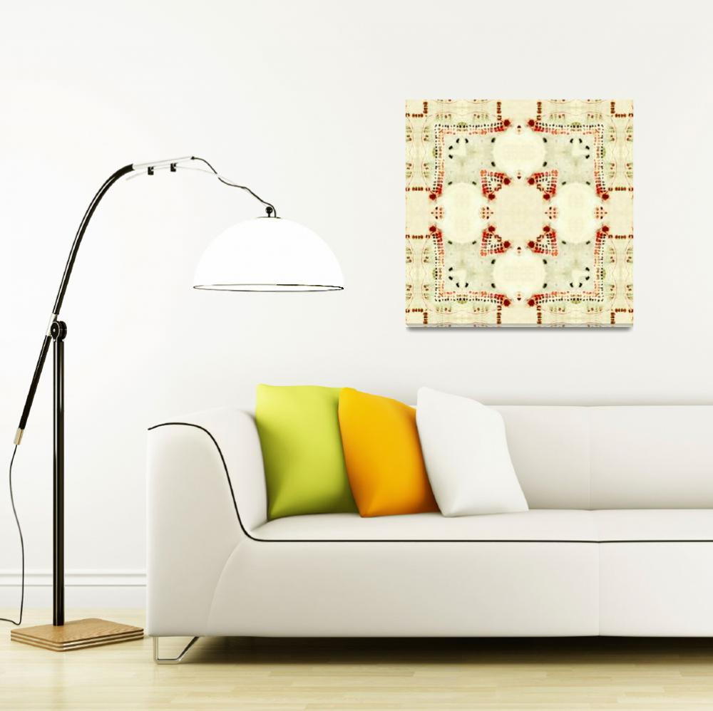 """ArabellaStudios_Red Cream 1_18x18""  by arabellastudios"