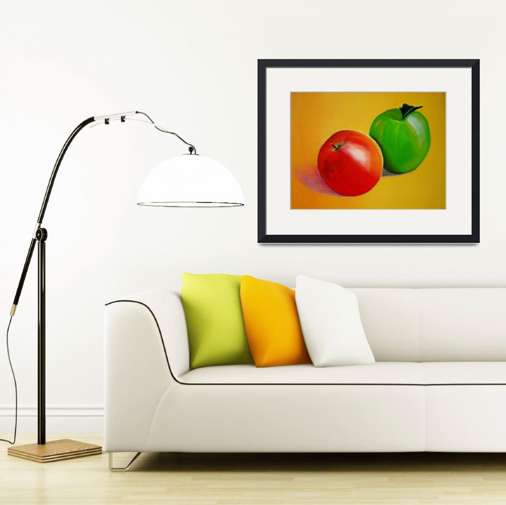 """""""RED AND GREEN APPLES""""  by juliecat"""