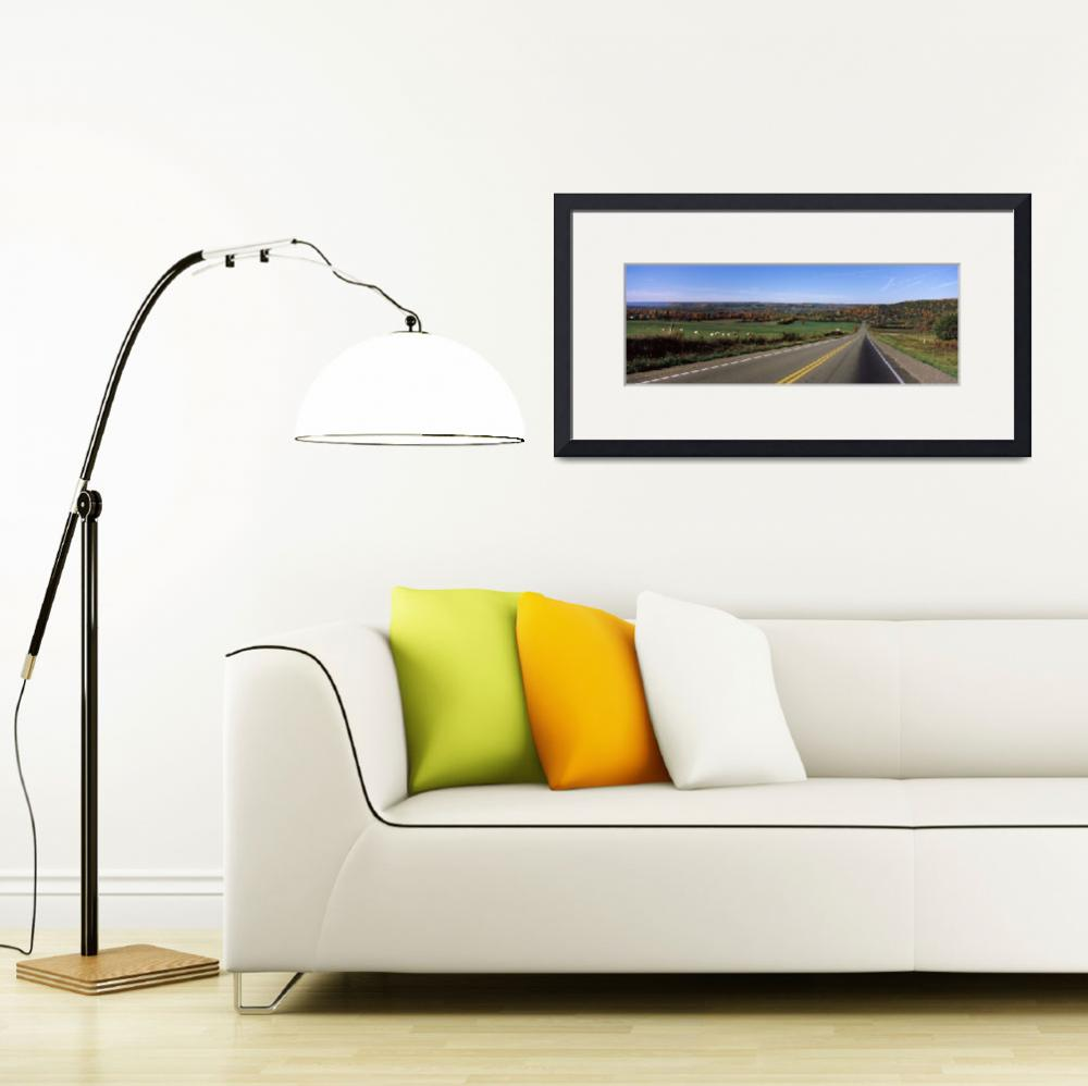 """""""Road passing through a landscape&quot  by Panoramic_Images"""