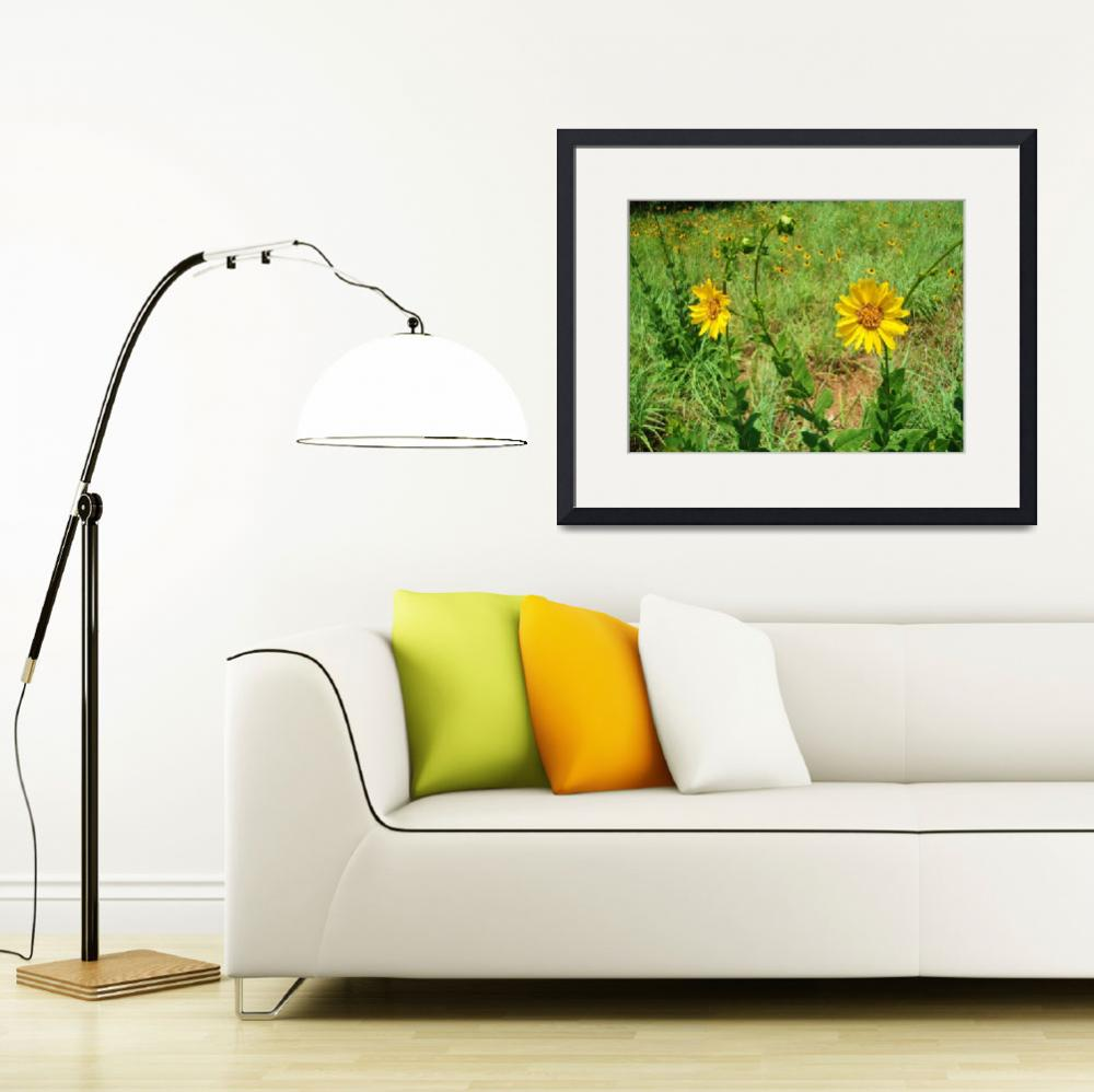 """""""Yellow Flowers""""  (2012) by DigitalCreations"""